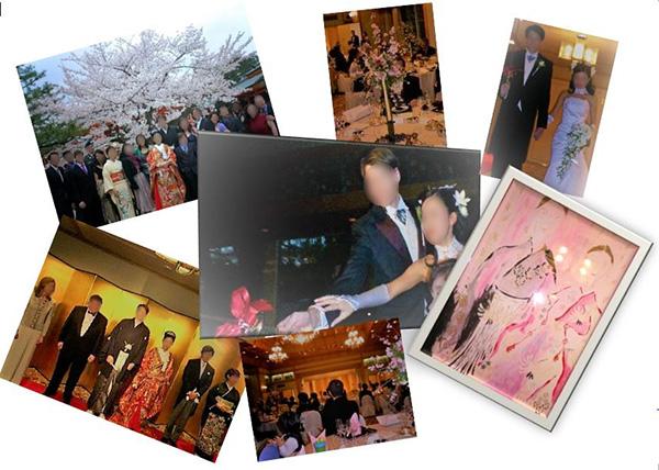 2007年4月晴天の元 「桜」をテーマに披露宴