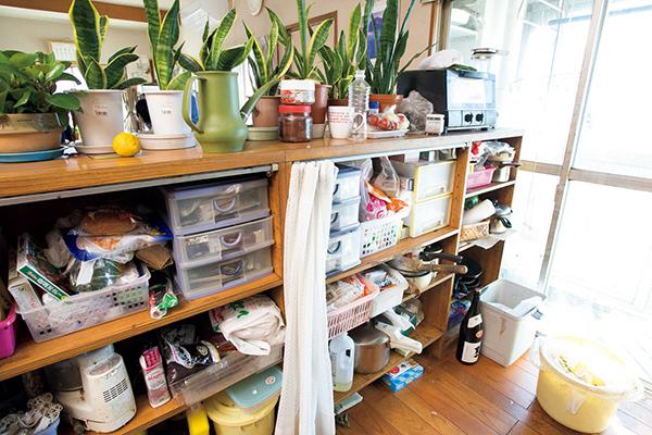 キッチンカウンターのビフォー画像