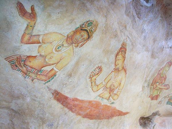 1500年前にシギリヤ・ロックに描かれた美女「シギリヤ・レディ」