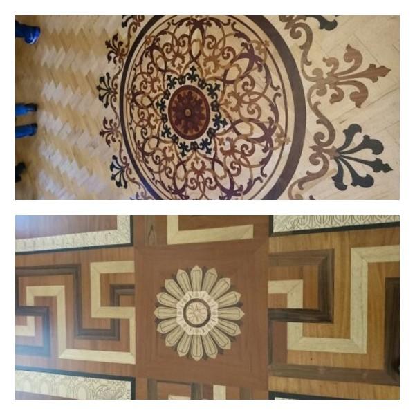 美しい床の寄せ木細工