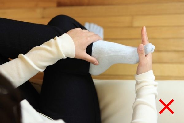 足指ストレッチのポイント:NG例