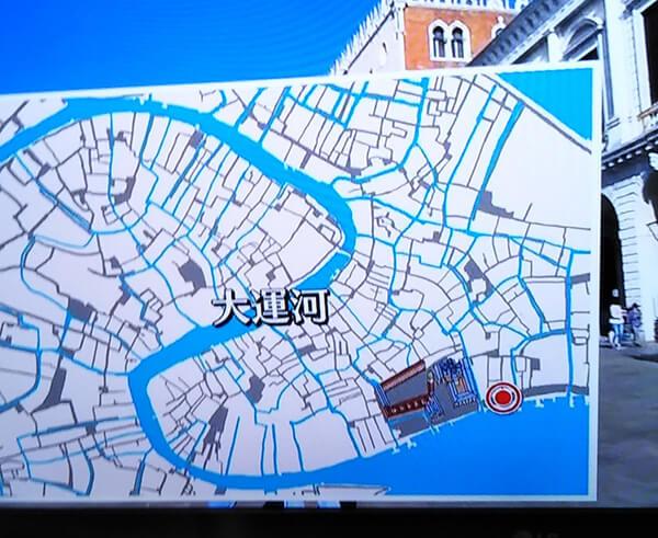 ベネチアの地図