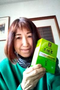「お~いお茶 お抹茶」モニター:守川和子さん