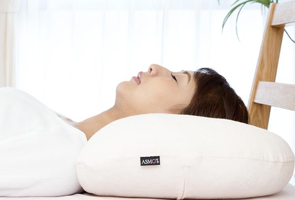 首のシワ対策の枕