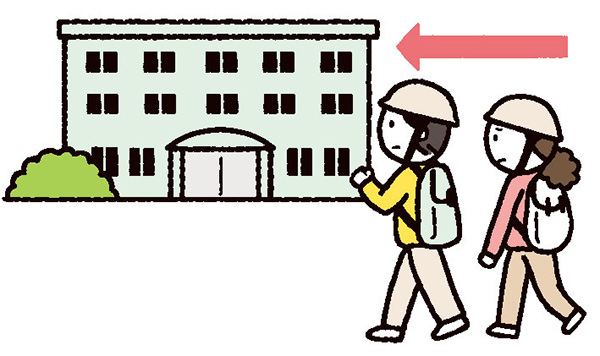 風水害では、水平避難か、垂直避難か、想定しておく