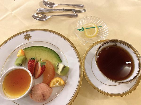 特製日光虹鱒金谷風ディナーのデザート