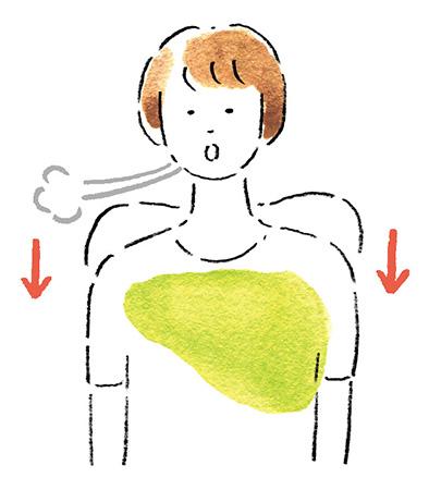 自律神経を整えるアイデア10:肩を上げて、ストン!