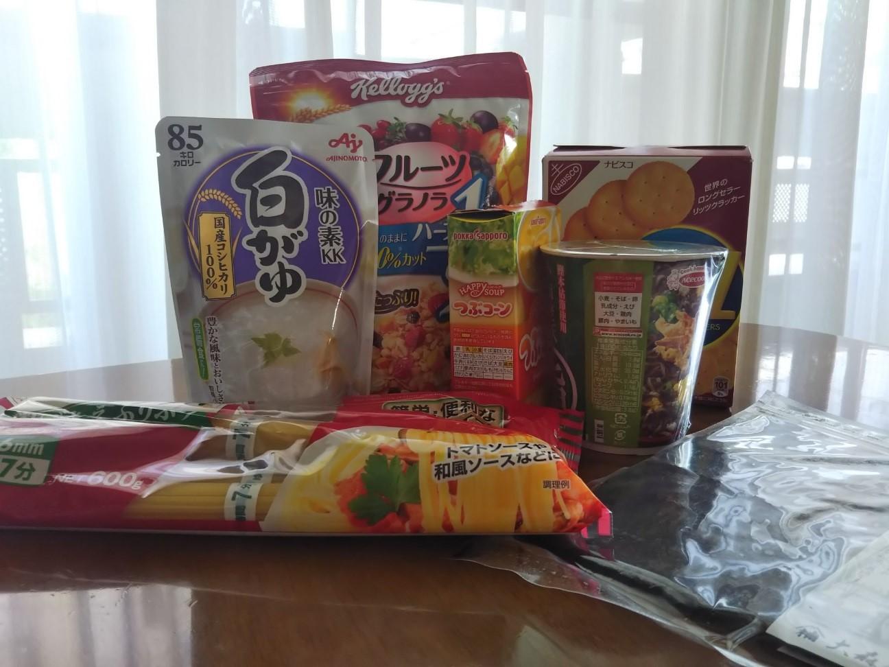 お菓子やレトルト食品