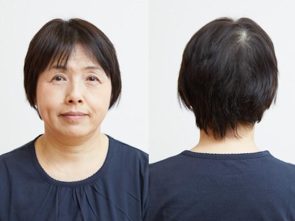 Before:長めの前髪&サイドが重い印象。後頭部のボリュームダウンがお悩み