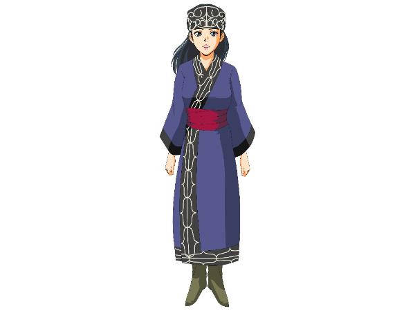 アイヌ民族の女性服装のイメージ