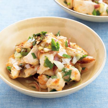 大葉ミックスの料理レシピ2:鶏ムネの塩こうじ焼き