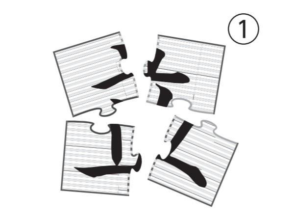 大人の脳トレドリル:漢字ジグソーパズル問題1