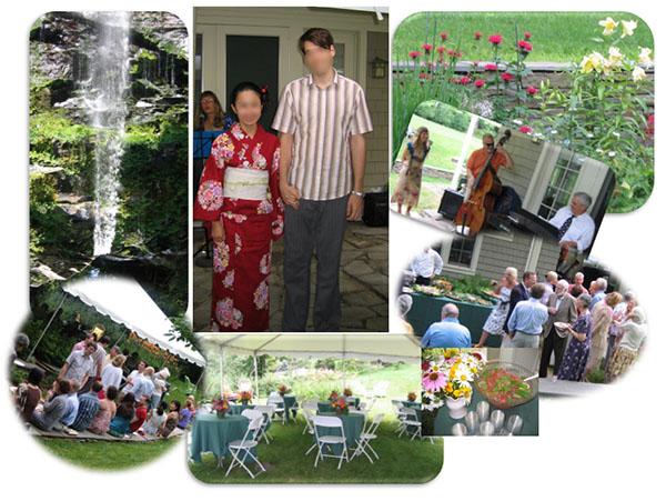 ガーデンパーティー形式の婚約発表