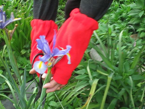 庭の花の手入れや草取りに、アームカバーが大活躍