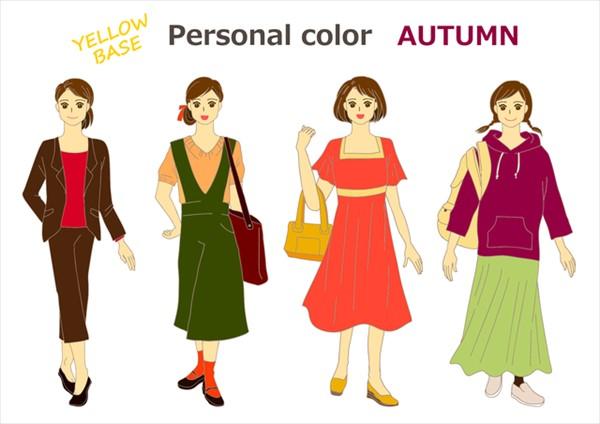 オータムカラーの人が秋に着る服はこんな色