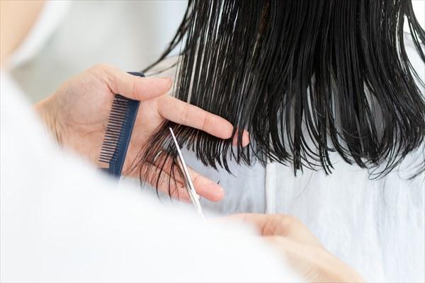 髪のパサつき:傷んだ毛先をカットする