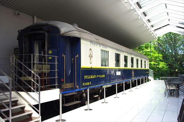 箱根ラリック美術館に展示されているオリエント急行車両