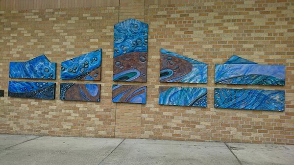 シアトル、ベルビューの図書館の外壁