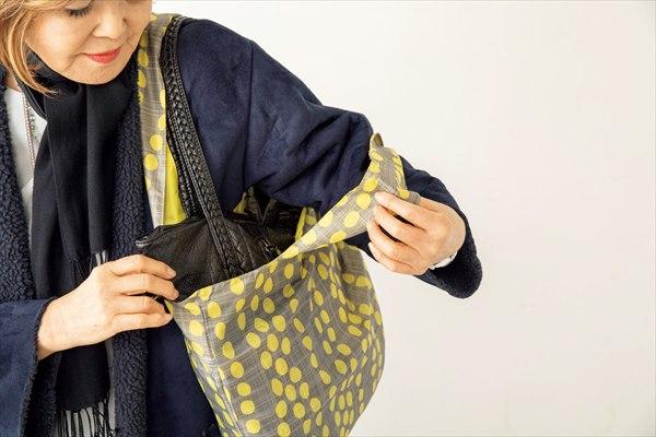 バッグ活用アイデア1:バッグ・イン・エコバッグ