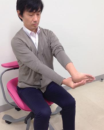 オフィス肘(テニス肘)予防:肘ストレッチ