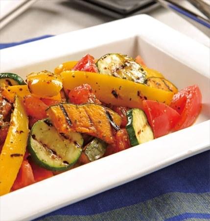 美肌レシピ1:夏野菜のグリル・緑茶マリネ