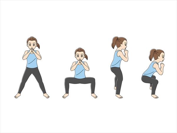 大きな筋肉を鍛える方法:スクワット