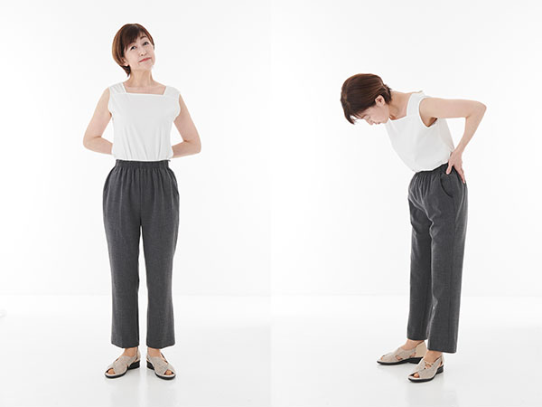 50代からの美脚パンツ選びのNG例:オーバーサイズパンツ