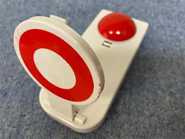 購入した早押しボタン。正直、おもちゃのようなモノです