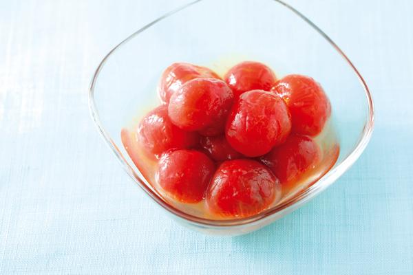 冷凍ミニトマトのハチミツマリネ
