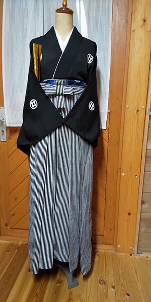 かかしの里に提供した紋付と袴