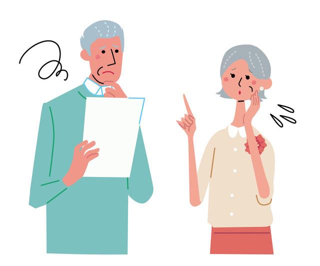年金に悩むシニア女性