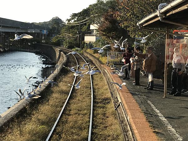 車内から見た浜名湖佐久米駅