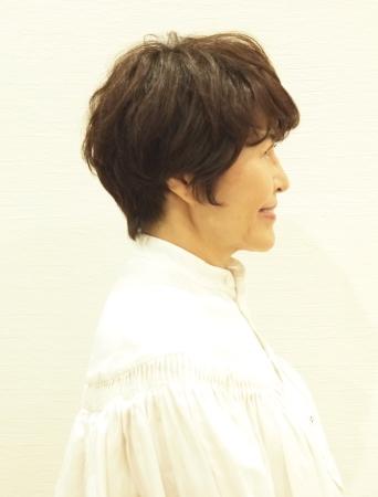 50代髪型ヘアカタログ:ショート(サイド)