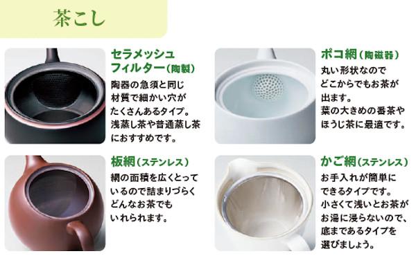 急須選びのポイント:茶こしの種類・使いやすさ