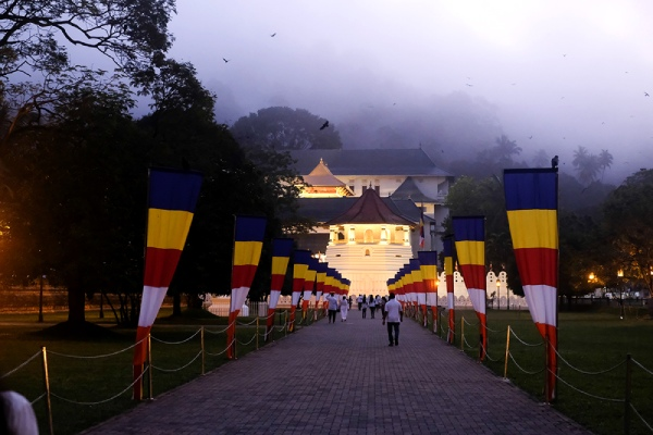 早朝の仏歯寺