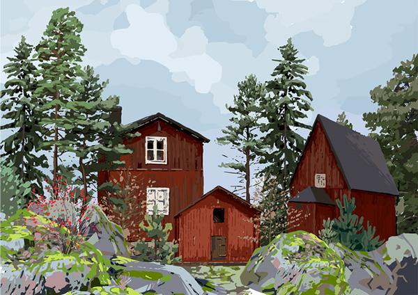 スウェーデンの田舎の「やかまし村」を舞台