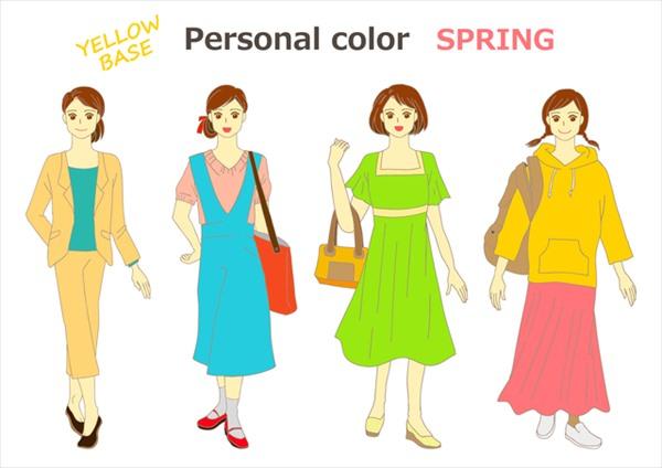 スプリングカラーの人が秋に着る服はこんな色