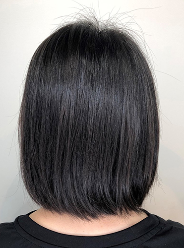 素髪東京で施術前の髪
