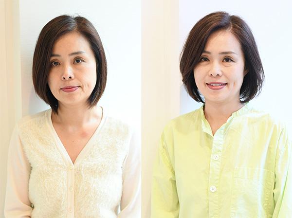 50代髪型ヘアカタログ:ボブ(ビフォーアフター)