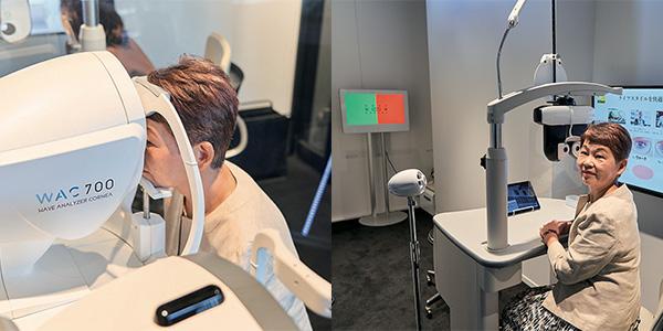 体験 1 見え方の悩みをヒアリングしながら視力測定