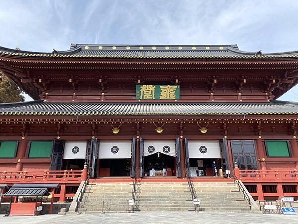 輪王寺の護摩堂でコロナ終息を願う