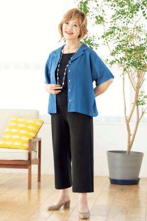 痩せて見える服:シャツとパンツの面積がポイント