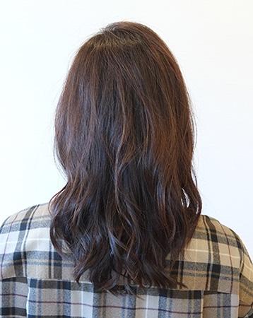 50代髪型ヘアカタログ:セミロング(バック)
