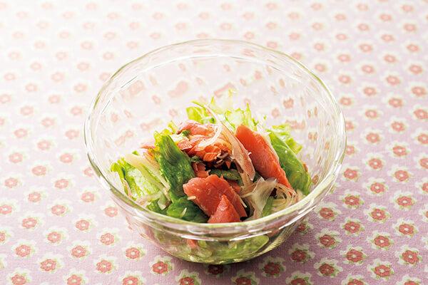レタスと香り野菜の酢の物