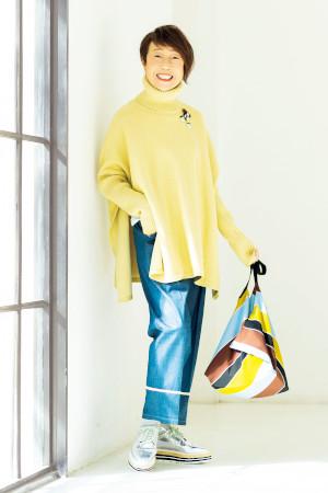 70代女性のファッションコーディネート:田野倉和子さん(72歳)