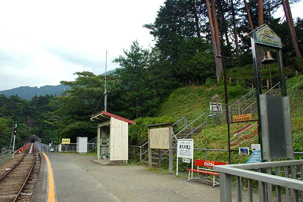 奥大井湖上駅ホーム