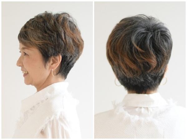 スタイル3:表情を明るく彩る、自然な毛流れ&ポイントカラー