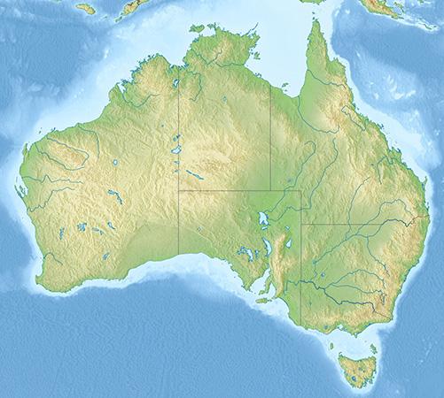 オーストアリアの地図