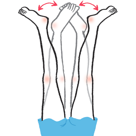 脚やせストレッチ:足首を左右に動かす
