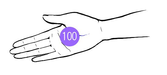 乾燥肌が改善する化粧水のつけ方:100円玉を乗せる